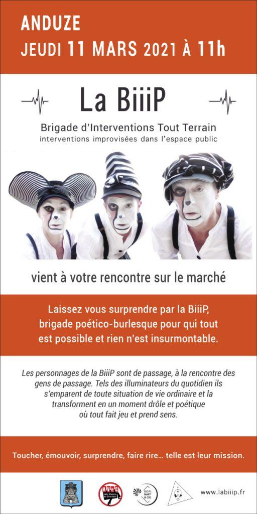 La BiiiP à Anduze jeudi 11 mars 2021 à 11h